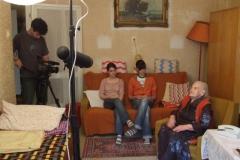 Az Emberöltők című film forgatásán
